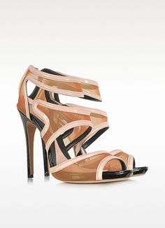【McQ Alexander McQueen】 Mesh and Patent Leather Sandal $700.00