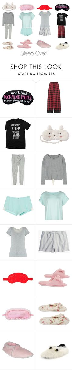 """Sleep Over!!"" by i-am-awkward ❤ liked on Polyvore featuring Rosamosario, P.J. Salvage, Madewell, Eberjey, Victoria's Secret, Calvin Klein, Skin, Deluxe Comfort and Fendi"
