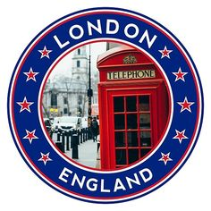 'London, with photo, Phone Booth' by Alma-Studio Gs World, World Cities, London Icons, London City, Flags, Organic Vodka, Circle Game, World Thinking Day, British Things