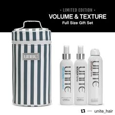 Want your hair louder than life? Grab this Volume & Texture  gift set and get a FREE 7Seconds Leave In Detangler. It's only here for a limited time so pick one (or two or three) up before they run out! #Repost @unite_hair  All good things come in 3s! #UNITEaddict #unitefamily #unitediamondsalon #unitehair #unitehaircare #bostonsalon #salonboston #salon #boston #hairdresser #hairstylist #hairstyle #hairproducts #healthyhair #bostonstylist #holidayseason #holidayshopping #limitededition…
