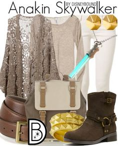 Feel the force in this Anakin Skywalker outfit.    Disney Fashion   Disney Fashion Outfits   Disney Outfits   Disney Outfits Ideas   Disneybound Outfits   Star Wars Outfit  
