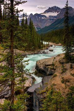Mistaya river and canyon, Banff National Park, Alberta, Canada..woodendreams.tumblr.com