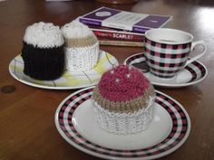 Handmade Knitted CupCakes by CutupProductions on Etsy, £3.99