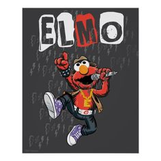 Póster Elmo Rockin hacia fuera | Zazzle.com Elmo, Presents For Kids, Custom Posters, Cool Gifts, Custom Framing, Cool Art, Mickey Mouse, Disney Characters, Fictional Characters