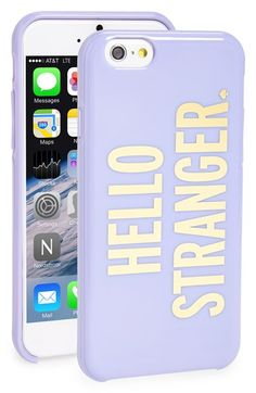 Free shipping and returns on kate spade new york 'hello stranger' iPhone 6 case at Nordstrom.com. Hey there, stranger! If you've been searching for a pretty, witty case to protect your favorite tech from scuffs and scratches, look no further—this hard-shell case from kate spade will shield and display your phone in fabulous style.