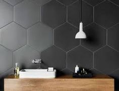 Image result for hexagon feature tiles grey