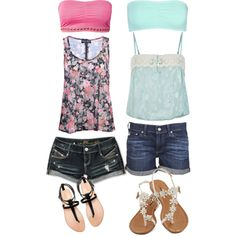 2 Cute Summer Outfits - Polyvore