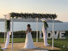 In Sea View Wedding Venue by En Kipo you will have all the privacy that you need in order to host your wedding ceremony in Chania, Crete, Greece! Wedding Table, Wedding Ceremony, Wedding Venues, Gazebo Decorations, Wedding Decorations, Crete, Destination Wedding, Weddings, Formal Dresses