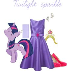 Twilight sparkle by kristenaviles on Polyvore featuring polyvore, fashion, style, P.A.R.O.S.H., Brian Atwood, Ted Baker and Avant Garde Paris