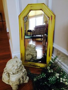 Imagine in English yellow - $26. Eclectic Mirrors, Gift Store, English, Interior Design, Yellow, Furniture, Home Decor, Nest Design, Decoration Home