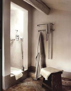 open shower area