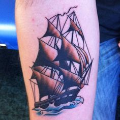Vintage Ship Tattoo