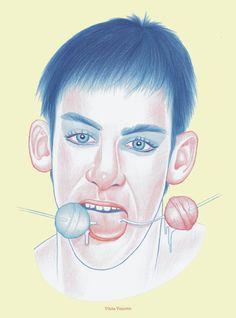 Sweet tooth Boy - pencil on paper - Vilela Valentin