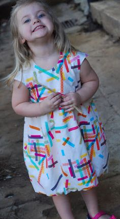 oliver + s bubble dress in washi tape