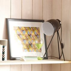 Love this lamp! Shame it's not available anymore (Black Tripod Table Lamp #Dunelm #Decor #Home)