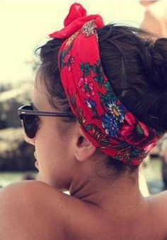 Wear a head wrap for a chic summer look.