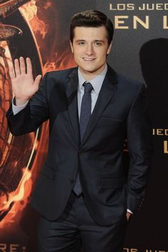 Josh Hutcherson at the Catching Fire premiere in Madrid, Spain on November 13, 2013.