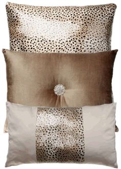 Kylie Minogue Leopard Cushions - Adorn your bed with sequined & taselled cushions and bed runner for added indulgence and shimmer.
