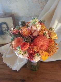 Rustic county autumn bouquet by Eden's Echo