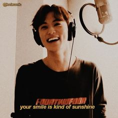 your smile is kind of sunshine ? K Quotes, Mood Quotes, Aesthetic Boy, Quote Aesthetic, Aesthetic Captions, Sad Breakup, Quotes Lockscreen, Rap God, Mark Nct