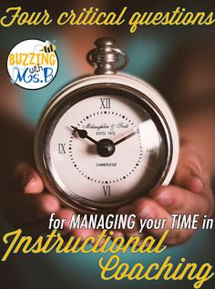 4 critical questions for managing your time as an instructional coach