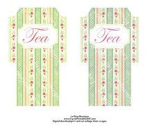 Tea Bag Envelopes English Cottage Roses. Holds 2 Tea Bags Each. 2 Different Colors. Digital Download Sheet No. 333 DIY Print and Cut