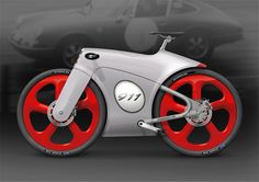 "Porsche Bicycle - Of course this caught my eye! I guess all ""cool"" would be gone if I added old man handle-bars!"