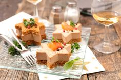 christmas canape with gingerbread and foie gras
