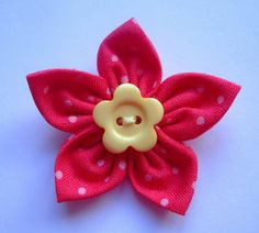 stamping and stitching: Fabric Flower Tutorial
