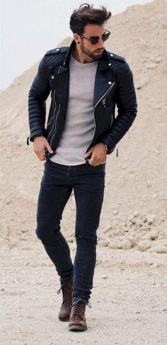 mode homme automne hiver 2017 2018 idées tendances veste en cuir