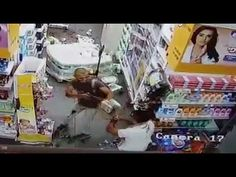"""Palestinian"" terrorist butchering an Innocent Israeli in a Supermarket"