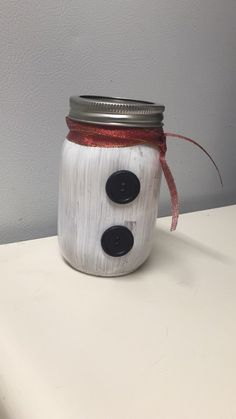 Snowman Mason Jar filled with hot cocoa and mini marshmallows! Makes the perfect holiday gift! I can create anything you see on my boards or I can create something especially for you! Thanks for looking!  Jessie Moseley
