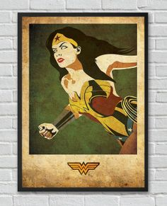 Every man needs a woman who's full of wonder.  Wonder Woman Justice League vintage poster by FlickGeek on Etsy, $11.00