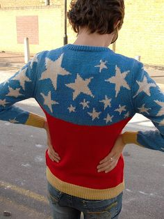 WW back detail by kaby, via Flickr ~ My favorite part of this AMAZING sweater is the bracelet cuffs.