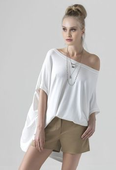 Yazz Angela - Nicole | Γυναικεία ένδυση με ποιότητα - Collection S/S '16 Off Shoulder Blouse, Tunic Tops, Women, Fashion, Moda, Fashion Styles, Fashion Illustrations, Woman