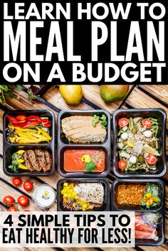 Want to create a weekly meal plan on a budget to help you lose weight and get back in shape? Look no further! We're sharing 4 simple tips you can implement TODAY to help you learn the art of meal prepping for weight loss. Whether you're shopping for one or for 2 (or for 3, for 4, for 5, or even for 6!), we'll teach you how to create a killer grocery list as well as other money-saving tips to help you develop a healthy weekly menu you'll love in half the time (and for half the money)!!