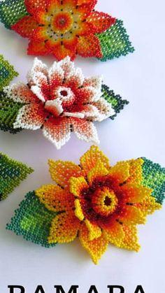 Crochet Earrings, Beaded Necklace, Beaded Jewelry Patterns, Bead Jewellery, Barrette, Beaded Flowers, Bead Weaving, Diwali, Seed Beads
