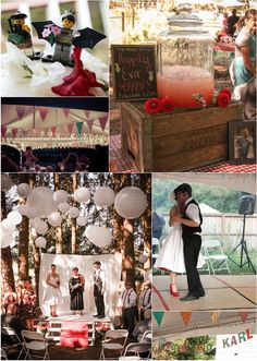 Inward Facing Girl - A Design-Obsessed Mom Who Writes A Lot - Wedding Wednesday: My Awesome Friend's Cool Vintage Picnic InspiredWedding