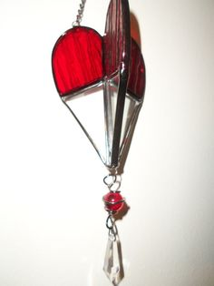 Valentine's Day Decorative Red Glass Metal 3 Dimensional Hanging Accent NEW #JoAnns