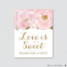 Love is Sweet Sign for Floral Bridal Shower by ShowerThatBrideShop