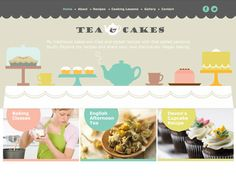 Moonfruit Template - Tea & Cakes #website #design