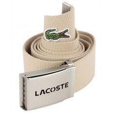 Lacoste Webbed Belt - Tan #lacoste #belt
