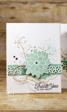 Flourish thinlits, Flourishing phrase, Flowers, Stampin Up