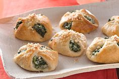 Sometimes the best recipes come in little packages, like these crescent roll bundles with spinach and 3 types of cheese. Great flavor packed in each bite.