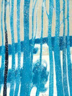 amare-habeo:    André Brasilier (French, born 1929) Loupeigne Under Snow, N/D Oil on canvas,130 x 97 cm