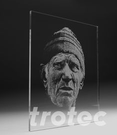 Photo engraving made easy with the Trotec JobControl® laser software. In 3 steps to the perfect photo laser engraving. Photo 3d, Photo Images, Glass Engraving, Photo Engraving, Trotec Laser, Gravure Photo, Gravure Laser, Photo Portrait, Impression 3d