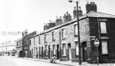1960s Black and white photograph showing Higher Parr Street, corner of Marsh Street, St.Helens PH/17/23/35