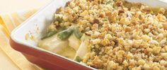 Blend, layer, bake--it's as easy as that to make this quick supper solution, thanks to canned soup, pre-seasoned bread crumbs, and frozen veggies.
