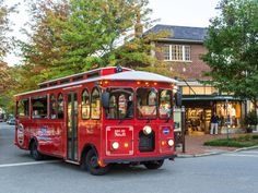 "Asheville's Most Popular Sightseeing Tour- featuring unlimited hop-on/hop-off privileges at 10 stops, a FREE second day pass, 50% off admission to the Thomas Wolfe Memorial House, and 100% Satisfaction Guarantee. Trolleys depart every 30 minutes (in-season)... EXPLORE MORE! Join the tour at the Asheville Visitor Center or any other tour stop. Hop aboard one of Gray Line's nostalgic trolleys for a fully narrated journey, highlighting the history, homes and hot-spots of this ""..."