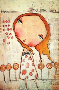 love floats Original on wood 8x10 by PBsArtStudio on Etsy, $65.00